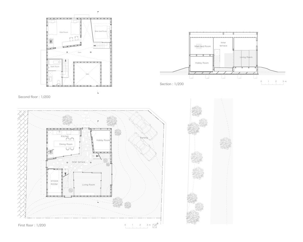 floor plans + section